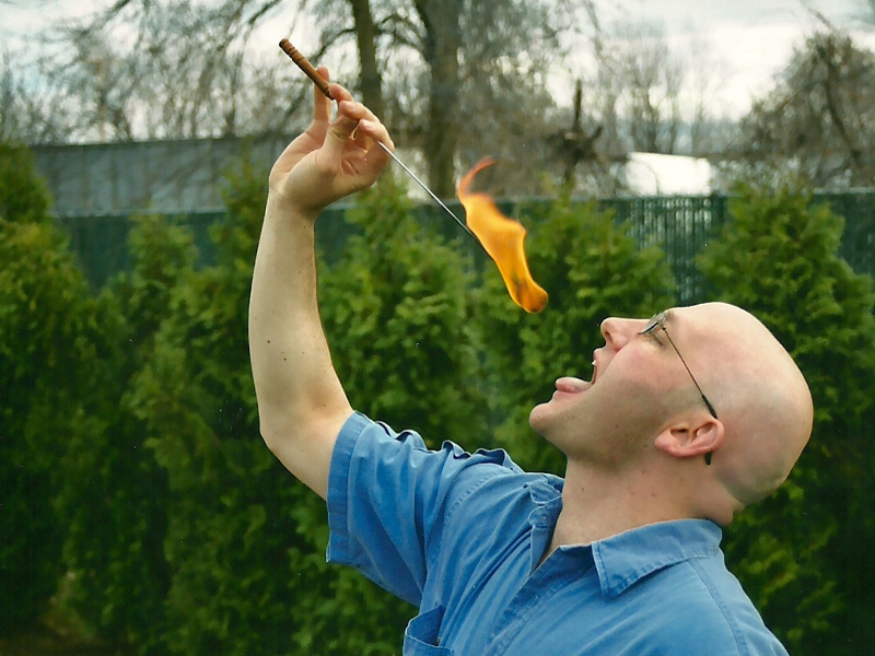 Eating Fire (Photo by Joe Nickell).