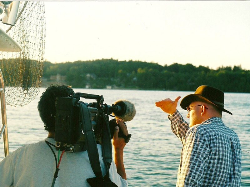 Searching for the Igopogo lake monster north of Toronto, Canada, for the Daily Planet science TV show.
