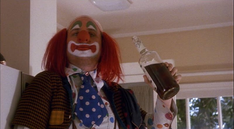 "Bobcat Goldthwait as Shakes the Clown, ""the Citizen Kane of alcoholic clown movies."""